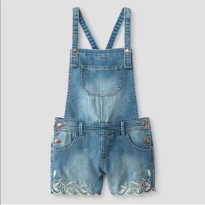 Cat & Jack overalls embroidered romper Xs sm 0